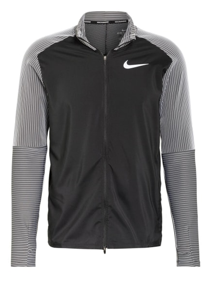 Nike Laufshirt FUTURE FAST, Farbe: SCHWARZ/ WEISS/ GRAU (Bild 1)