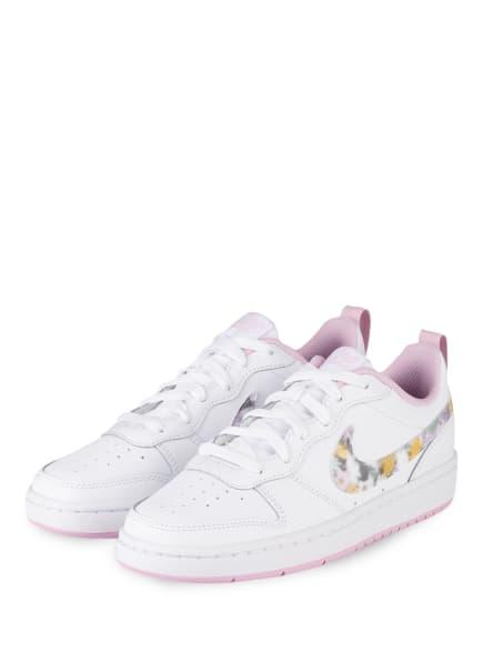 Nike Sneaker COURT BOROUGH LOW 2, Farbe: 100 WHITE/MULTI-COLOR-LT ARCTIC PINK (Bild 1)