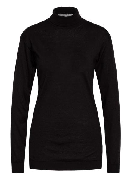 VALENTINO Cashmere-Pullover mit Seide, Farbe: SCHWARZ (Bild 1)