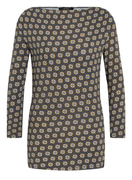 WEEKEND MaxMara Shirt mit 3/4-Arm, Farbe: DUNKELBLAU/ KHAKI/ WEISS (Bild 1)