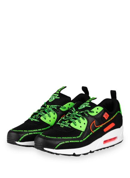 Nike Sneaker AIR MAX 90, Farbe: SCHWARZ/ NEONGRÜN (Bild 1)