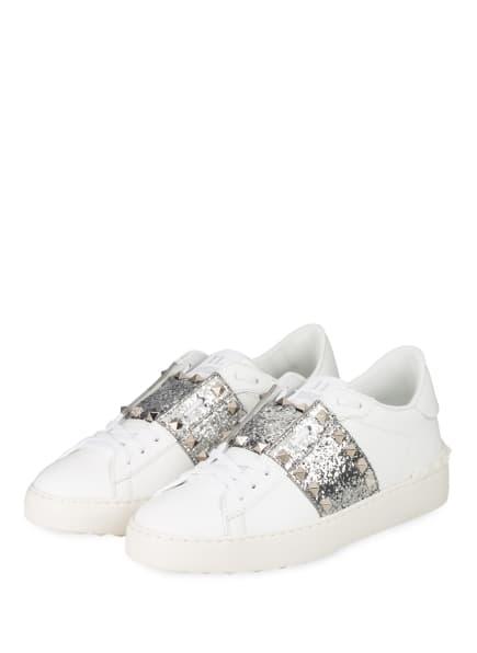 VALENTINO GARAVANI Sneaker ROCKSTUD UNTITLED, Farbe: WEISS/ SILBER (Bild 1)