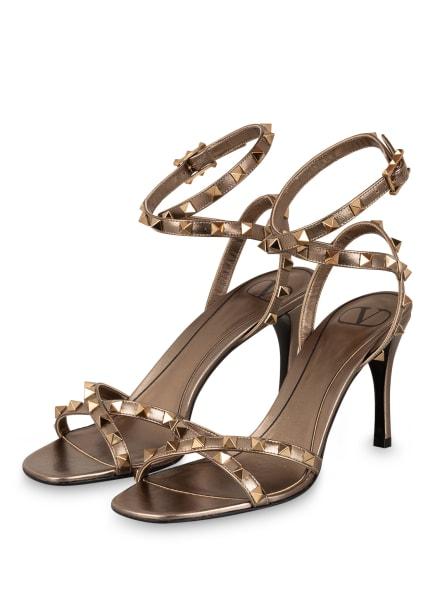 VALENTINO GARAVANI Sandaletten ROCKSTUD, Farbe: GOLD (Bild 1)