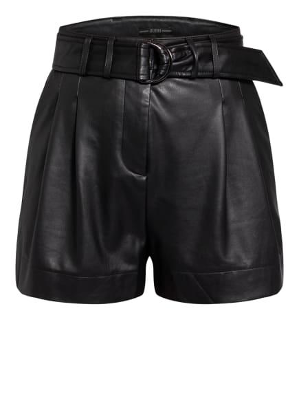 GUESS Shorts AVA in Lederoptik, Farbe: SCHWARZ (Bild 1)