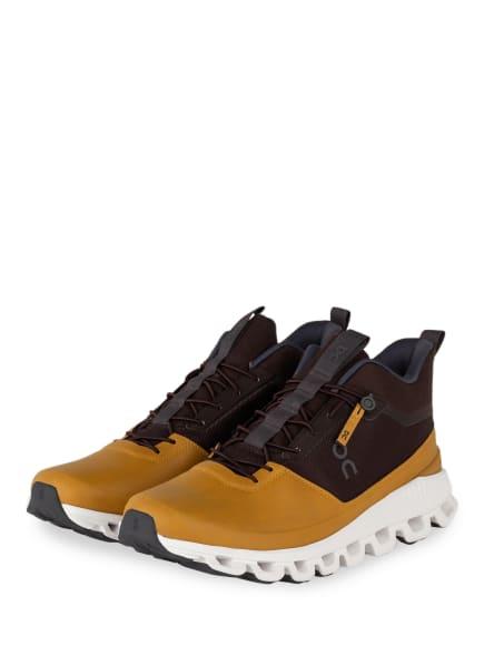 On Running Sneaker CLOUD HI, Farbe: CAMEL/ DUNKELBRAUN (Bild 1)