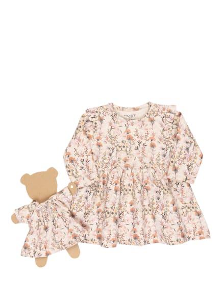 HUST and CLAIRE Kleid KELLY mit Rüschenbesatz, Farbe: CREME/ HELLROSA/ ORANGE (Bild 1)