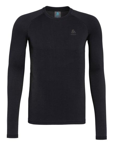 odlo Funktionswäsche-Shirt PERFORMANCE WARM ECO , Farbe: SCHWARZ/ GRAU (Bild 1)
