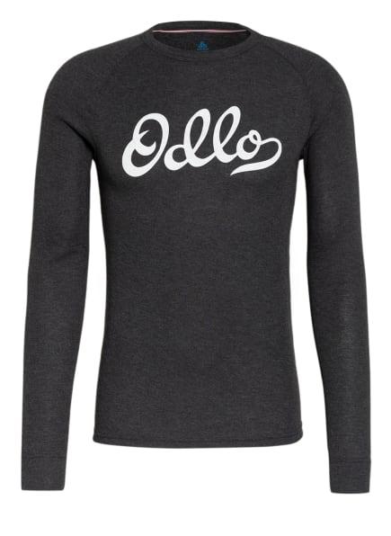 odlo Funktionswäsche-Shirt ACTIVE WARM ORIGINALS ECO, Farbe: DUNKELGRAU/ WEISS/ ROT (Bild 1)