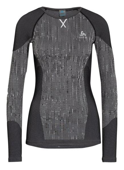 odlo Funktionswäsche-Shirt BLACKCOMB, Farbe: DUNKELGRAU/ WEISS (Bild 1)