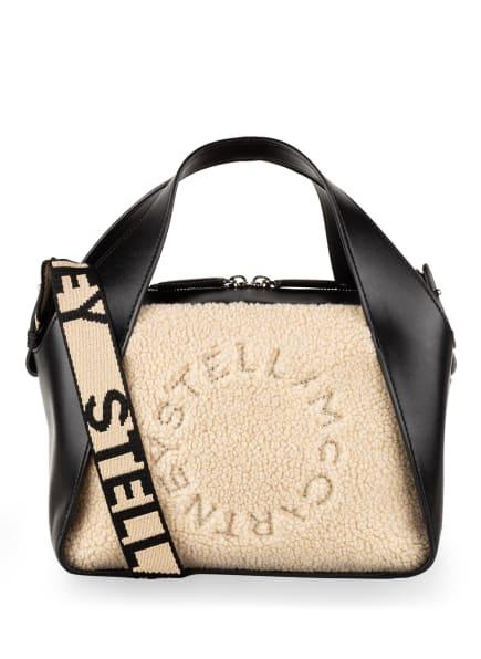 STELLA McCARTNEY Handtasche mit Kunstfellbesatz , Farbe: SCHWARZ/ CREME (Bild 1)