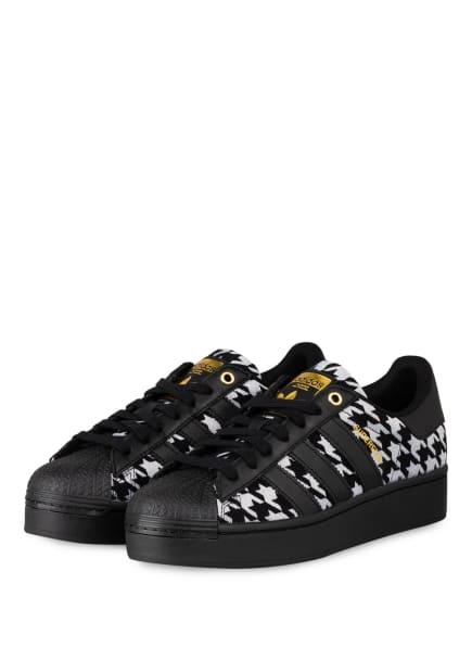 adidas Originals Plateau-Sneaker SUPERSTAR, Farbe: SCHWARZ/ HELLGRAU (Bild 1)