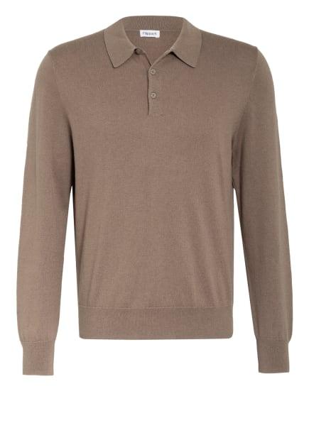 Filippa K Strick-Poloshirt, Farbe: TAUPE MELIERT (Bild 1)
