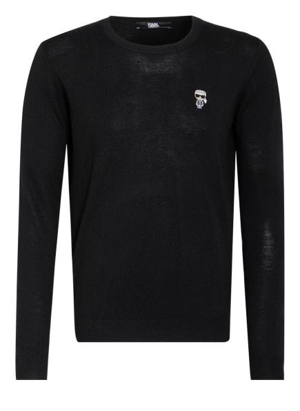 KARL LAGERFELD Pullover IKONIK, Farbe: SCHWARZ/ WEISS (Bild 1)