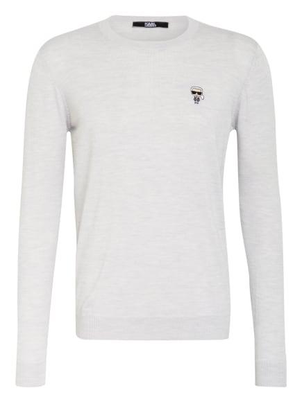 KARL LAGERFELD Pullover IKONIK, Farbe: HELLGRAU (Bild 1)