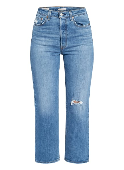 Levi's® 7/8-Jeans RIBCAGE STRAIGHT ANKLE , Farbe: 61 MED INDIGO - WORN IN (Bild 1)