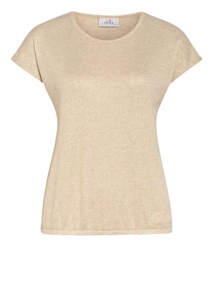 DEHA T-Shirt mit Glitzergarn , Farbe: BEIGE/ GOLD (Bild 1)