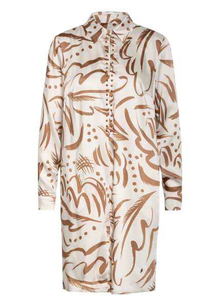 MOS MOSH Kleid TATE TORY mit Nietenbesatz, Farbe: ECRU/ HELLBRAUN (Bild 1)