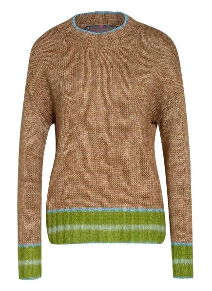 LIEBLINGSSTÜCK Pullover mit Alpaka, Farbe: CAMEL/ GRÜN (Bild 1)