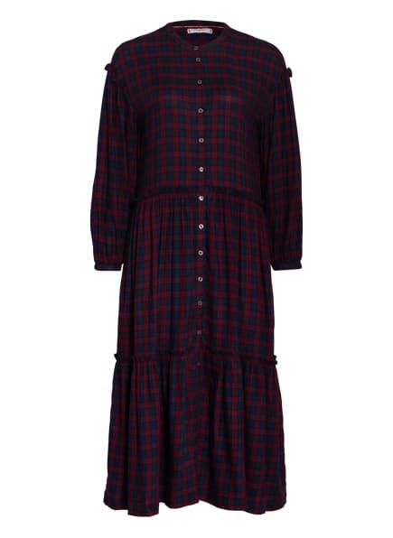 TOMMY HILFIGER Kleid BEA mit Volantbesatz, Farbe: DUNKELBLAU/ DUNKELROT (Bild 1)