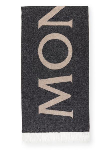 MONCLER Schal SCIARPA , Farbe: DUNKELGRAU MELIERT/ TAUPE MELIERT (Bild 1)