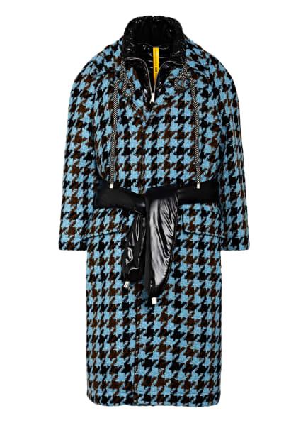 MONCLER GENIUS 2-in-1-Tweed-Mantel RINEKE, Farbe: HELLBLAU/ DUNKELBRAUN/ SCHWARZ (Bild 1)