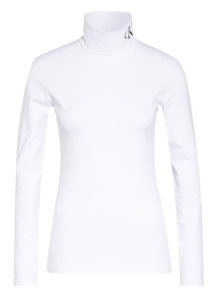 Calvin Klein Jeans Rollkragenshirt , Farbe: WEISS (Bild 1)