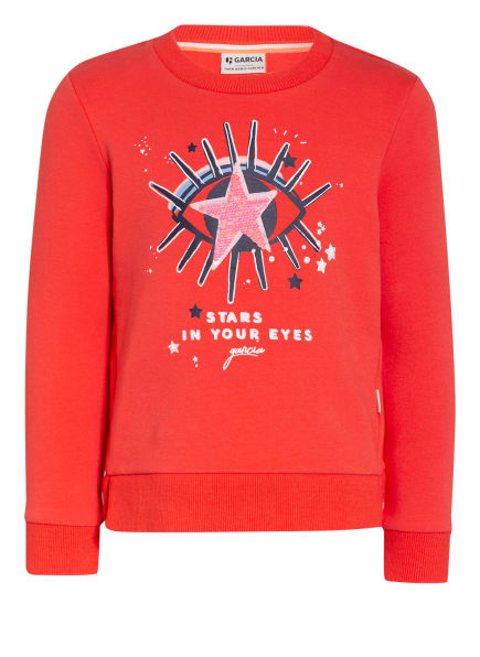 GARCIA Sweatshirt mit Paillettenbesatz, Farbe: PINK (Bild 1)