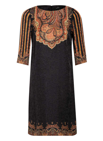 ETRO Kleid mit Seide und 3/4-Arm, Farbe: DUNKELBRAUN/ ORANGE/ BEIGE (Bild 1)