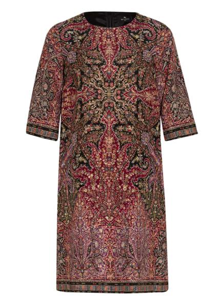 ETRO Kleid mit Seide und 3/4-Arm, Farbe: SCHWARZ/ DUNKELROT/ HELLGRÜN (Bild 1)