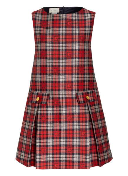 GUCCI Kleid, Farbe: ROT/ DUNKELBLAU (Bild 1)
