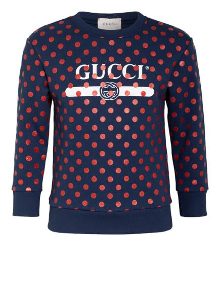 GUCCI Sweatshirt, Farbe: DUNKELBLAU/ ROT/ WEISS (Bild 1)