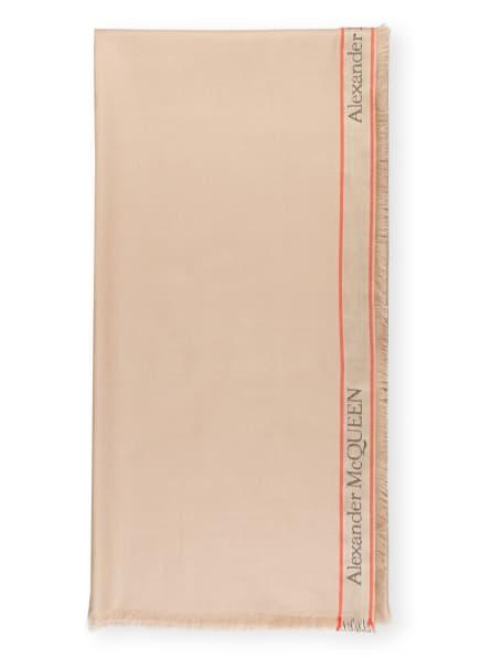 ALEXANDER McQUEEN Tuch, Farbe: BEIGE (Bild 1)