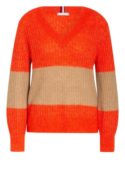 TOMMY HILFIGER Pullover, Farbe: ORANGE/ BEIGE (Bild 1)