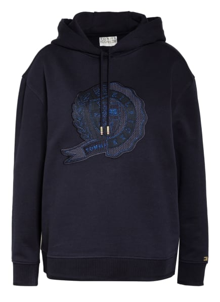 TOMMY HILFIGER Oversized-Hoodie ICON RELAXED , Farbe: DUNKELBLAU (Bild 1)