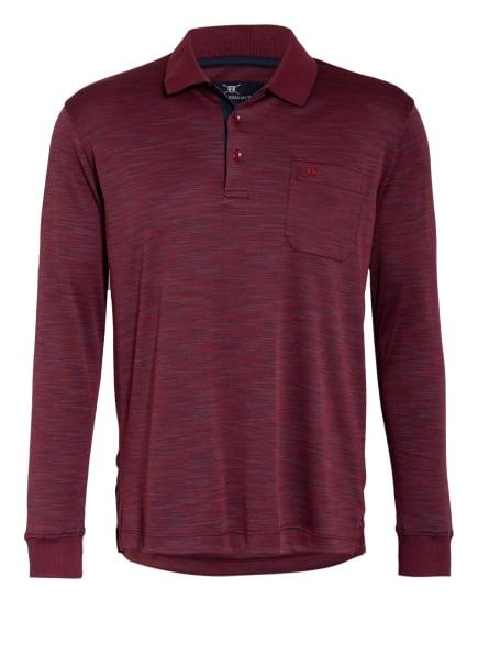 STROKESMAN'S Jersey-Poloshirt Regular Fit, Farbe: DUNKELROT/ DUNKELBLAU/ GRAU (Bild 1)