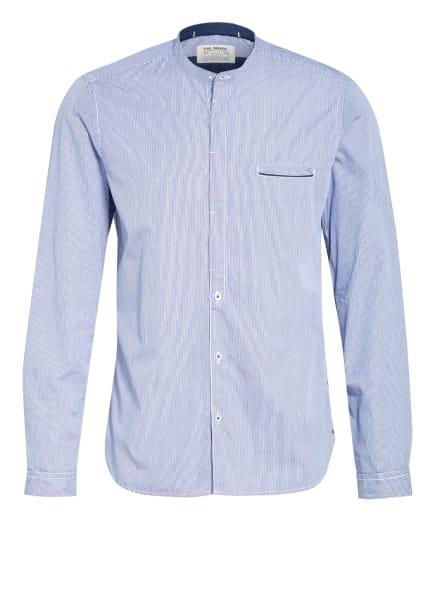 FIL NOIR Hemd CATANIA Shaped Fit mit Stehkragen, Farbe: DUNKELBLAU/ WEISS (Bild 1)