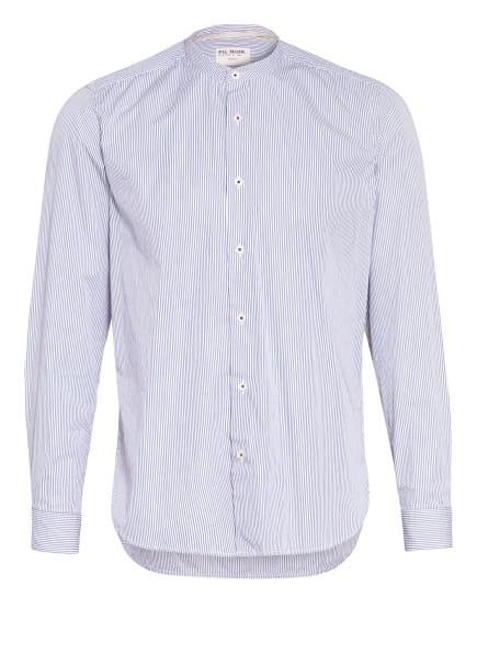 FIL NOIR Hemd ANCONA Shaped Fit mit Stehkragen, Farbe: DUNKELBLAU/ WEISS (Bild 1)