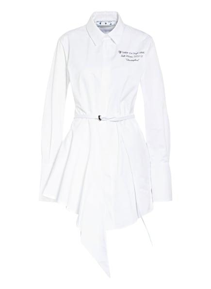 Off-White Hemdblusenkleid mit Volantbesatz, Farbe: WEISS (Bild 1)