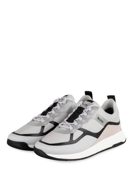 BOSS Sneaker RUNN, Farbe: HELLGRAU/ SCHWARZ (Bild 1)