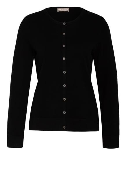 REPEAT Strickjacke aus Cashmere , Farbe: SCHWARZ (Bild 1)