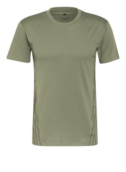 adidas T-Shirt AEROREADY 3, Farbe: KHAKI (Bild 1)