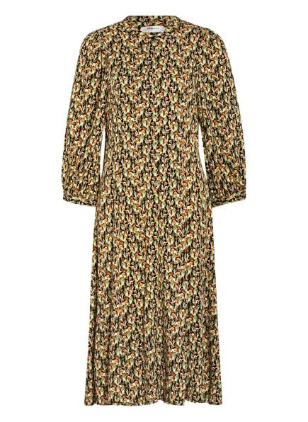 MOSS COPENHAGEN Kleid KAROLA mit 3/4-Arm, Farbe: SCHWARZ/ HELLGRÜN/ DUNKELORANGE (Bild 1)