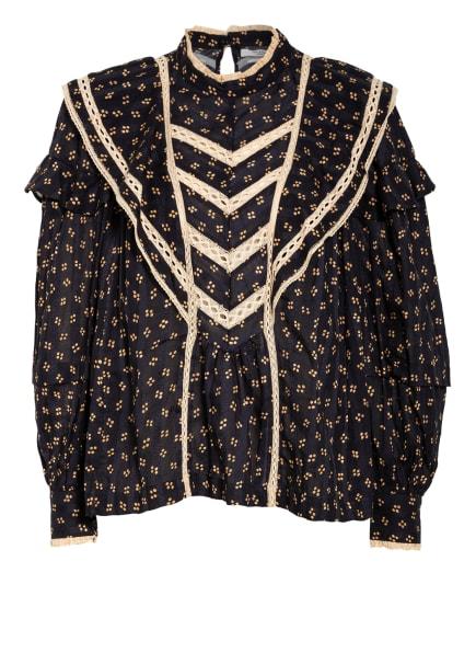 ISABEL MARANT ÉTOILE Bluse REIGN mit Spitzenbesatz, Farbe: SCHWARZ/ CAMEL/ ECRU (Bild 1)