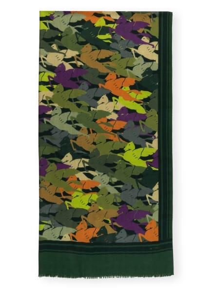 ETRO Cashmere-Schal mit Seide, Farbe: GRÜN/ LILA/ ORANGE (Bild 1)
