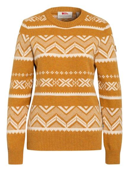 FJÄLLRÄVEN Pullover GREENLAND, Farbe: DUNKELGELB/ CREME (Bild 1)