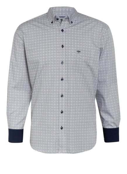 FYNCH-HATTON Hemd Regular Fit , Farbe: WEISS/ BLAU/ GELB (Bild 1)