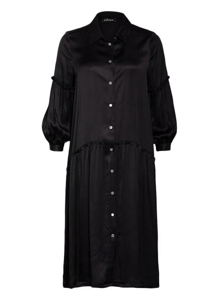Grace Hemdblusenkleid mit 3/4-Arm, Farbe: SCHWARZ (Bild 1)