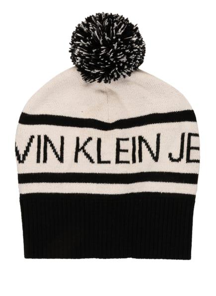 Calvin Klein Mütze, Farbe: SCHWARZ/ CREME (Bild 1)