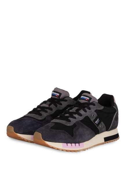 Blauer Sneaker QUEENS, Farbe: DUNKELGRAU/ SCHWARZ/ HELLLILA (Bild 1)