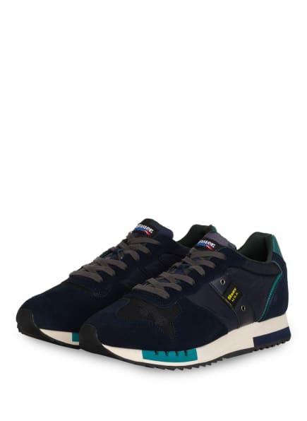 Blauer Sneaker QUEENS, Farbe: DUNKELBLAU/ TÜRKIS (Bild 1)